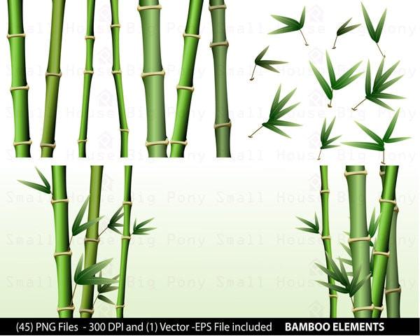 Bamboo Art Design : Bamboo clipart pack clip art short and tall