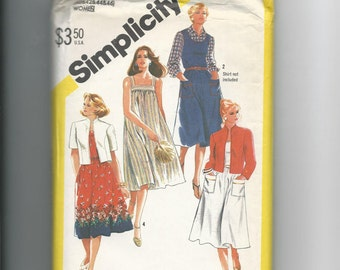 Simplicity 5515 Plus Size Pull-over Sundress and Unlined Jacket Size 40-46