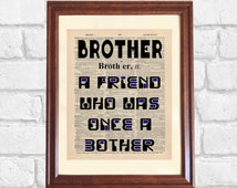 ... Gift for Brother, Younger Brother Gift, Older Brother Gift, Brother