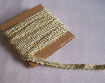 """Green and blue-green braid trimmings 196"""" vintage 0.5 thickness"""