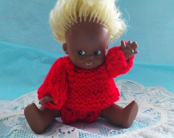 Vintage Rare African Ethnic Black Baby Blonde with Blue Eyes