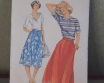 Vintage Butterick 5441 misses skirt and blouse