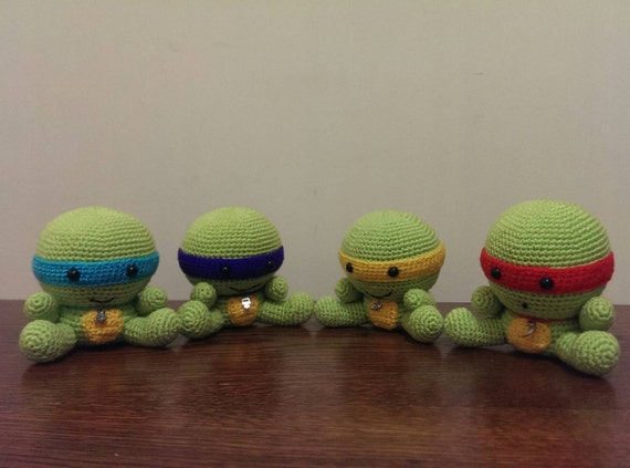 Turtle Toys For Boys : Crochet turtles toy from movie for boys teenage by margotoys