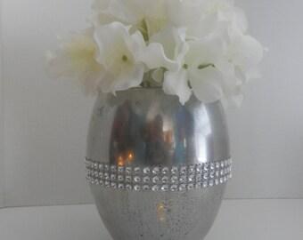 Weddingcenterpiece, Mercury glass flower vase , Wedding decorations, mercury glass candle holder