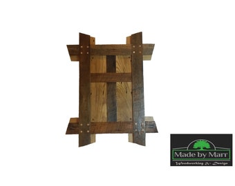 Wormy Chestnut Reclaimed Christian Cross Wall Art -- The Original