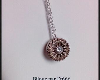 Jewelry designer pendant. Ice flower