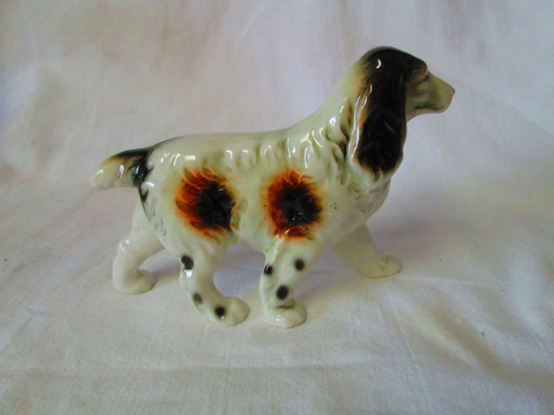 Bone China Springer Spaniel Dog Figurine Made By