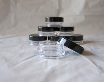 50 3 gram 3 ml cosmetic sample jars