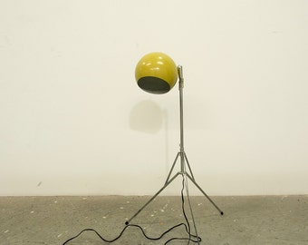 Mid Century Orb Tripod Floor Lamp Sonneman Style Eames Era Vintage Retro Pop Orbiter