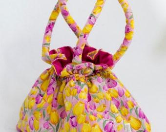 Tulip bag / Reversible bag / 2 bags in one / Tulips