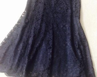 Lace black Skirt / Classic black Skirt / SMALL / Size 2