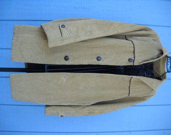 Waffle Corduroy Mens Barn Coat Jacket, Size Large  Tan color Seattle Knitting Mills SKM, Well made. In great condition.  Huge front pockets.