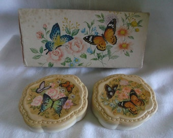 "Vintage Avon ''Butterflies and Blossoms"" bar box soaps"