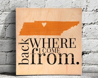Home Sign, Heart Over Home Sign, Home City Sign, Housewarming Gift, Custom Wood Sign, Tennesee Sign, Nashville Sign