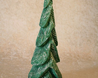 Hand Carved Wood Christmas Tree #166
