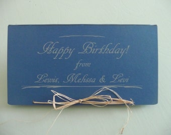 Add gift wrapping to your sign with your text