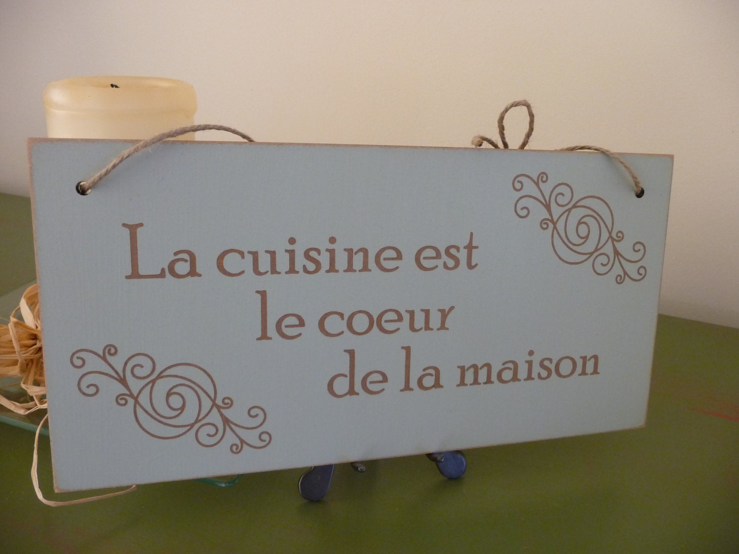 French Kitchen Sign La Cuisine Sign French Wall Decor