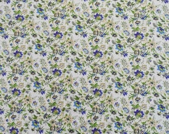 Designer Fabrics By The Yard For Clothing Floral Print Fabric White Pure