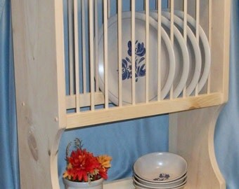 PLATE RACK with Display Area