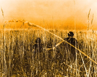 Wheat Field Dreams Photograph of a young couple 8X10, 11X14, 18X24