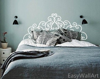 Headboard Wall Decal, Bedroom Headboard Decal, Headboard Stickers,Vinyl Headboard Wall Art Decor,King Queen Size,Headboard Wall Stickers #M9