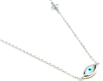 Sterling Silver Necklace   Free Shipping ! Free Gift Bag !