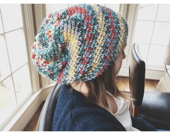 Multicolored Slouchy Beanie