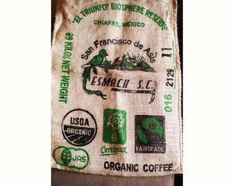 Organic Coffee Large Burlap Sack - FREE SHIPPING