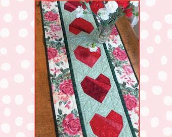 Romantic Heart Table Runner Pattern
