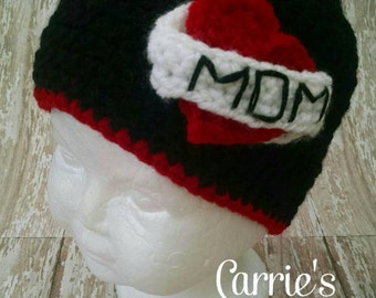 Crochet Tattoo Mom Hat -- Valentine's Day