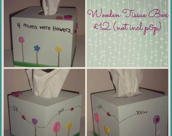 Square Wooden Tissue Box Cover