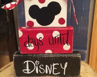 Days until Disney block set