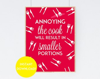 Printable Kitchen Quote Wall Art