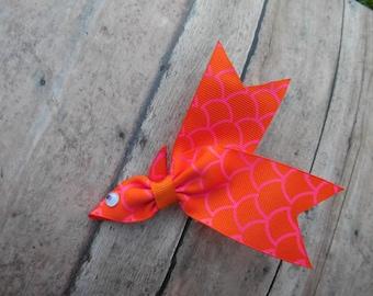 Goldfish Ribbon Sculpture Hair Clip