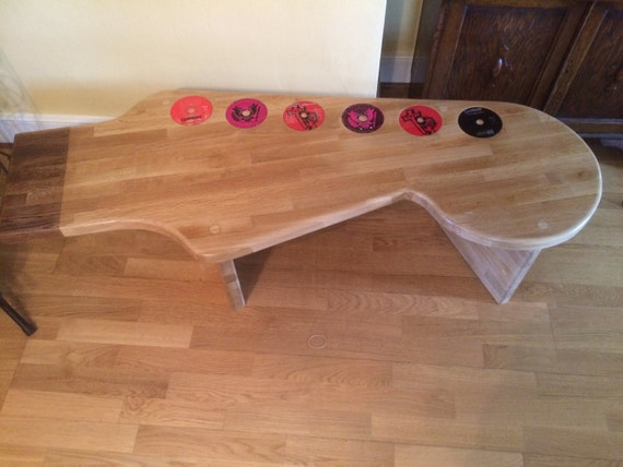 guitar coffee table beech wooden unique. Black Bedroom Furniture Sets. Home Design Ideas
