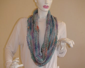 Infinity Scarf. Colorful soft  loop scarf.Colorful infinity scarf. Soft Neck Warmer.