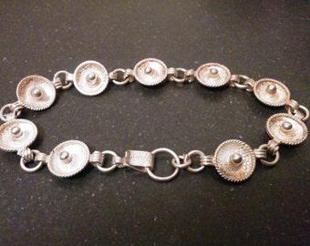 Vintage Sterling Silver Mexican Sombrero Bracelet