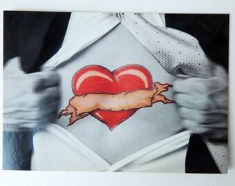 Love Tattoo Postcard