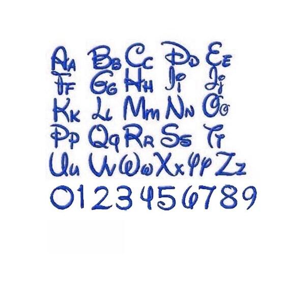 Disney Font Embroidery Design 1/2/3/4/