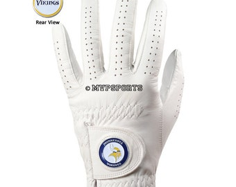 Minnesota Vikings Golf Glove & Ball Marker