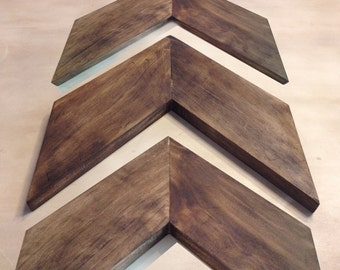 Small Chevron Arrows- Set of 3. Wood Arrow Wall Art. Chevron Home Decor. Modern Wood Chevron Arrows. Rustic Wood Chevron Arrows