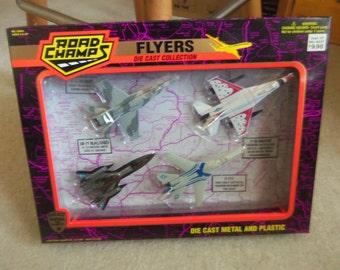 4 Road Champ Die Cast Planes in original box