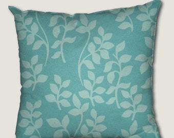 Pillow cover, decorative cushions in Growing Blue fabrics, several sizes