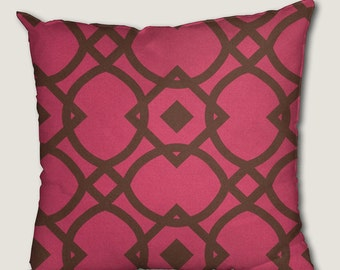 Pillow cover, decorative cushions in Geo Pink fabrics, several sizes