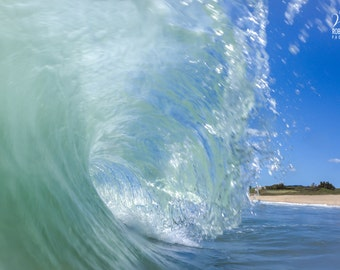 Photograph of a wave breaking in the Atlantic Ocean. Surf photography. Marine Photography. Ocean Photography, wave break