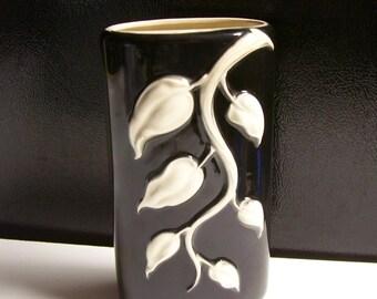 Royal Copley White Ivy Pattern Ceramic Planter / Vase