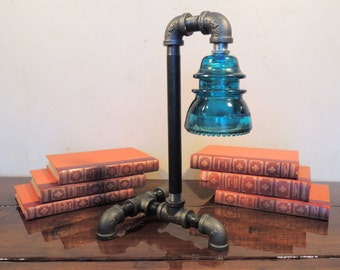 Popular items for steampunk lamp on etsy for Gas pipe desk lamp
