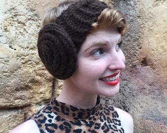 Princess Leia knit headband