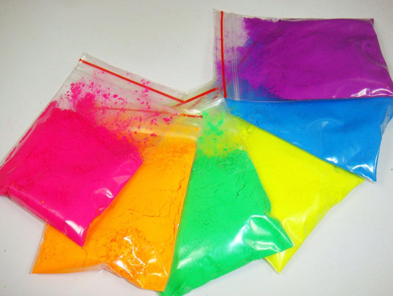6 Neon Colors Fluorescent Phosphor Pigment Powder For Nail
