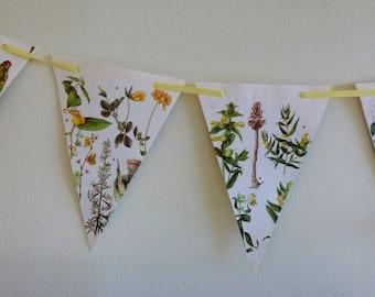 Floral Paper Bunting Yellow Ribbon
